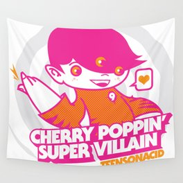 Teens On Acid - The Cherry Poppin' Super Villains Wall Tapestry