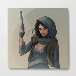 Jyn Erso - Fan Art Metal Print