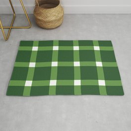 Lucille Green Plaid Gingham Rug