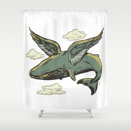 Sky Whale Shower Curtain