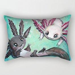 a little axolotl Rectangular Pillow
