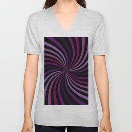 Purple Magenta Hypnotizing Swirl Unisex V-Neck