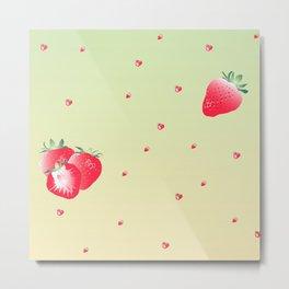 Strawberry (yellow) Metal Print
