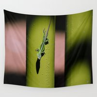 lizard Wall Tapestries featuring Lizard by Kristin H. Rommel