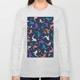 godzilla pattern 02 Long Sleeve T-shirt