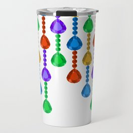 Colorful jewel stones in jewel tones rain curtain Travel Mug