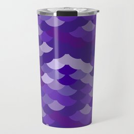 Ultra Violet wave, abstract simple background with japanese seigaiha circle pattern Travel Mug