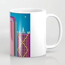 Dallas, Texas - Skyline Illustration by Loose Petals Coffee Mug