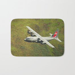 Low Flying Hercules With Special RAF Centenary Tail Art Bath Mat