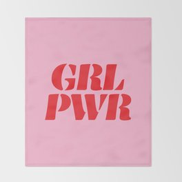 Girl Power GRL PWR Throw Blanket