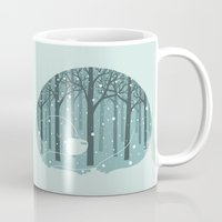 ilovedoodle Mugs featuring Hibearnation by ilovedoodle by I Love Doodle