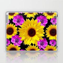 PURPLE FLOWERS & SUNFLOWERS DECO ART Laptop & iPad Skin
