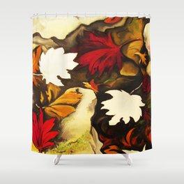 Autumn in Water III Shower Curtain