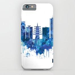 Kawasaki Japan Skyline Blue iPhone Case