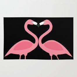 Flamingos Kissing in the Dark Rug