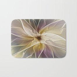 Floral Fantasy, Abstract Fractal Art Bath Mat