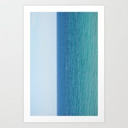 ocean vertical Art Print