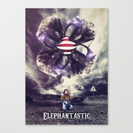 Elephantastic Canvas Print