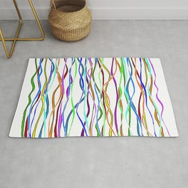 Parallel Lines - Colored Rug