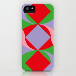 Two red squares and a Squared hole iPhone Case