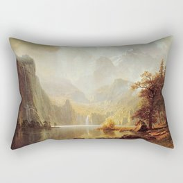 In The Mountains 1867 By Albert Bierstadt | Reproduction Painting Rectangular Pillow