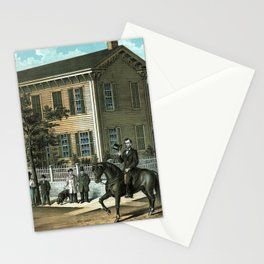 Abraham Lincoln's Return Home Stationery Cards