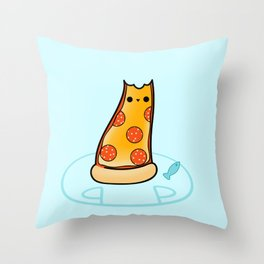 Purrpurroni and Cheese - Pizza Cat Throw Pillow