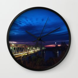 Evening Blues Wall Clock