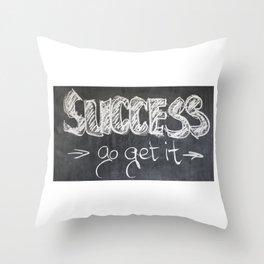 Success Quote (Inspirational) Throw Pillow