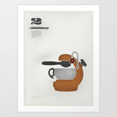 Coffee Contraption #2: Atomic Art Print