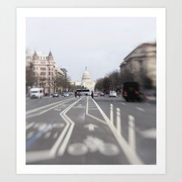 In the Streets of DC Art Print