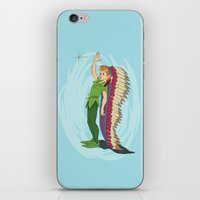 peter pan iPhone & iPod Skins featuring Peter Pan by LarissaKathryn
