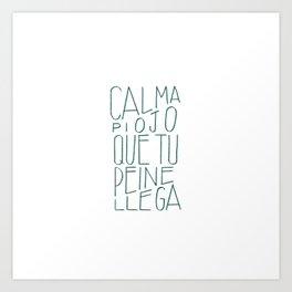 #Spanish #funny #saying in #lettering #design Art Print