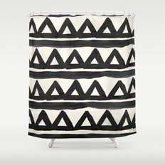 Chevron Shower Curtains Society - Black and white chevron shower curtain
