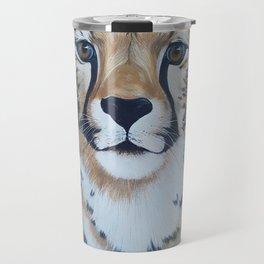 Cheetas, acrylic on canvas Travel Mug