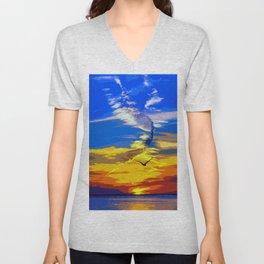 Florida, magical sunset Unisex V-Neck