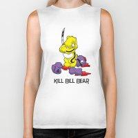 kill bill Biker Tanks featuring Kill Bill Bear by Andrew Mark Hunter
