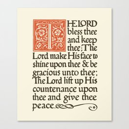 The Lord's Peace Canvas Print