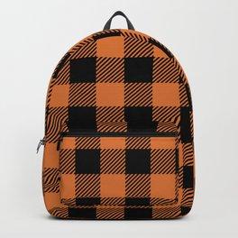 Buffalo Plaid - Orange & Black Backpack