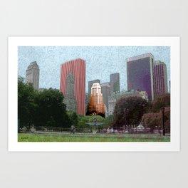N.Y.C Central Park Art Print