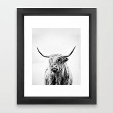 portrait of a highland cow - vertical orientation Framed Art Print