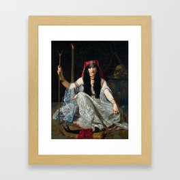 THE SORCERESS - GEORGES MERLE Framed Art Print