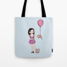 The cat balloon Tote Bag