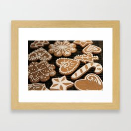 Holiday Iced Cookies Framed Art Print