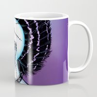 punk rock Mugs featuring Punk Rock Girl by Eeriette