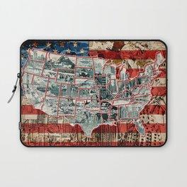 USA map 1 Laptop Sleeve