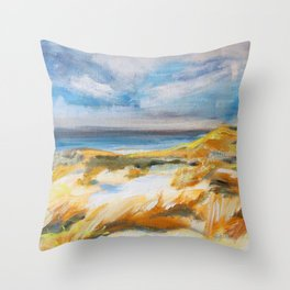 The Dunes in Ostend Throw Pillow