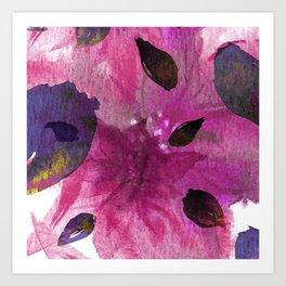 Watercolor Fuchsia Mirage Art Print