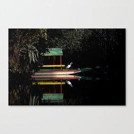 Xochimilco Lake Canvas Print