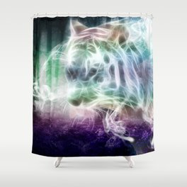 Spirit Tiger Shower Curtain